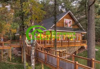 木结构房屋的得房率为90%左右