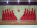 會議室十面旗幟抗光幕布星光幕布批發舞臺幕布定做