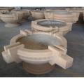 歐式玻璃鋼大花盆仿石真石漆異形圓形樹花水池定制廣東