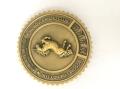 古铜色奖币厂家立体胸徽定制制作LOGO扣针厂家徽章