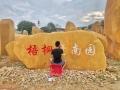 湖南大型園林景觀黃蠟石刻字石地標名稱刻字石