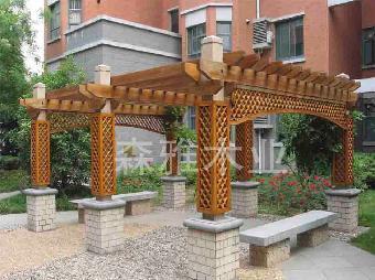 凉亭,码头,桥梁,窗台,地梁板和木结构框架,封檐板,花坛长凳,运动场