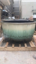 陶瓷圓缸洗浴中心 一米的浴缸大缸 景德鎮陶瓷溫泉洗