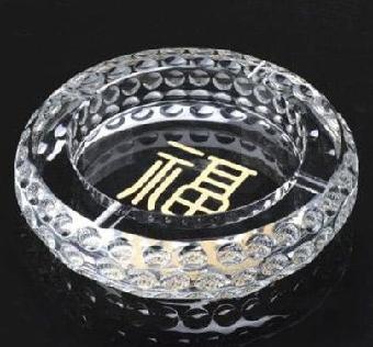 上海年终答谢老客户礼品-水晶烟灰缸小摆件