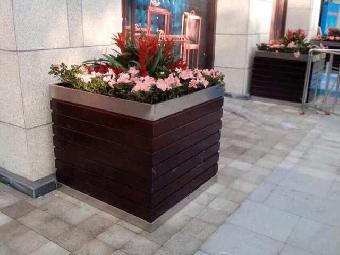 新款塑木花箱,塑木树池