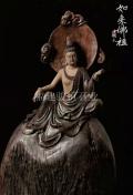 寺廟木雕制作 木刻觀音菩薩 線條清晰明快