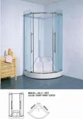 佛山酒店簡易淋浴屏風優質品牌簡易玻璃隔斷材料實惠