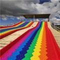 七色滑梯 彩虹滑道 具有豐富的戶外滑道施工經驗
