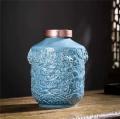 5 10斤裝陶瓷龍紋酒壇 配木盒可定做