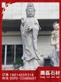 大型佛像石雕觀音、惠安石雕觀音廠家
