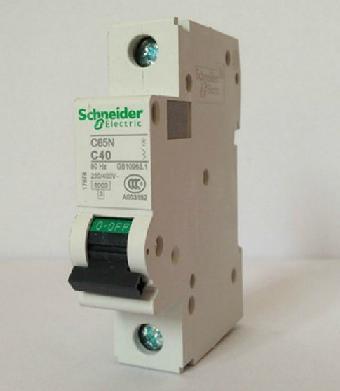 施耐德c65n 1p c2a小型断路器