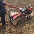四驅果園開溝機多功能大蔥培土微耕機