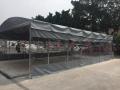 廣西戶外遮陽停車蓬大型推拉雨篷活動伸縮帳篷臨時廠棚
