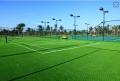 足球场假草坪做法