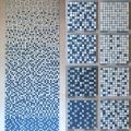 批發定制游泳池藍色馬賽克拼圖陶瓷材質