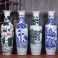 景德鎮陶瓷落地大花瓶 商務酒店裝飾2米花瓶擺件裝飾