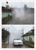 車輛消毒通道養豬場噴霧消毒設備