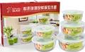 南京玻璃禮品定制、皖亭耐熱玻璃保鮮碗五件套