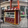 供應商業街實木制作的售貨亭 售賣亭