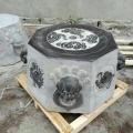 石雕井口大理石井圈老式八角井沿青石井口裝飾擺件
