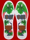 绿色环保养生十字绣鞋垫
