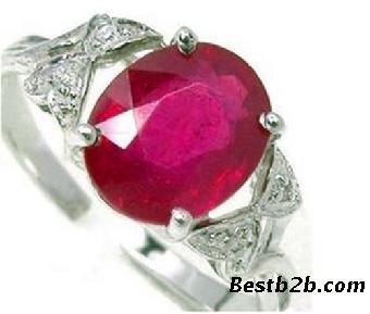首饰设计手稿弧面红宝石