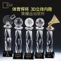 體育比賽冠軍獎杯,3D內雕榮譽紀念獎杯定制