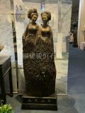 木雕來料加工 國外人物木雕 專業木雕廠支持訂做