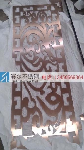 淮南市欧式花样雕花镂空不锈钢镀古铜色