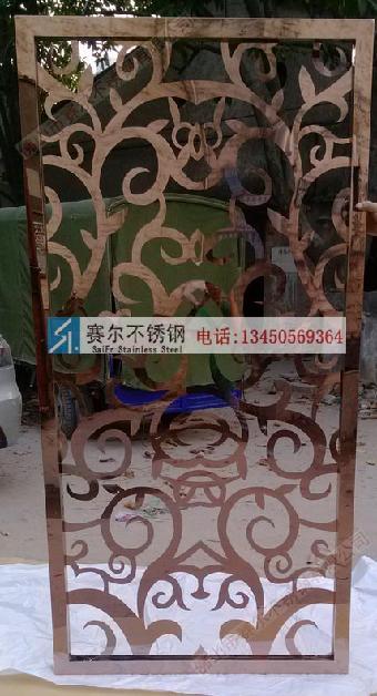 晋城欧式不锈钢玫瑰装饰屏风,专业加工不锈钢欧式雕花