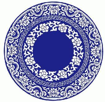 釉质滋润,白底衬以蓝色花纹,给人以清新,雅洁的感觉,具有中国传统水墨