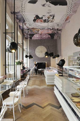 成都特色甜品店装修设计 个性时尚甜品店装修设计