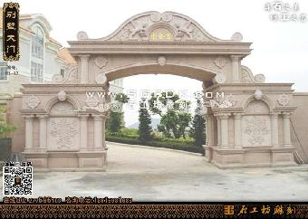 各式风格各异的欧式别墅石材外墙