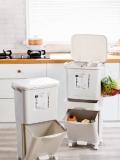 廠家OEM貼牌家用垃圾分類垃圾桶帶蓋腳踏雙層廚房