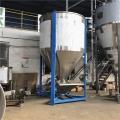 1噸不銹鋼立式攪拌機飼料混合機塑料粒子均化倉