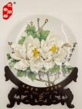 牡丹瓷工藝品-牡丹瓷廠家-不凋謝的水月牡丹瓷花