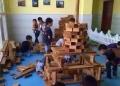 兒童碳化積木2-6歲寶寶拼搭積木幼兒園拼裝玩具長期