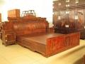 大紅酸枝雙人床家具大料獨板