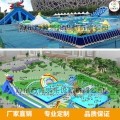 小型充气水乐园水上滑梯新款漂浮玩具游乐设备