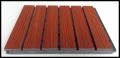 青島會議室實木立體木質吸聲板劇院墻體防火陶鋁隔聲板