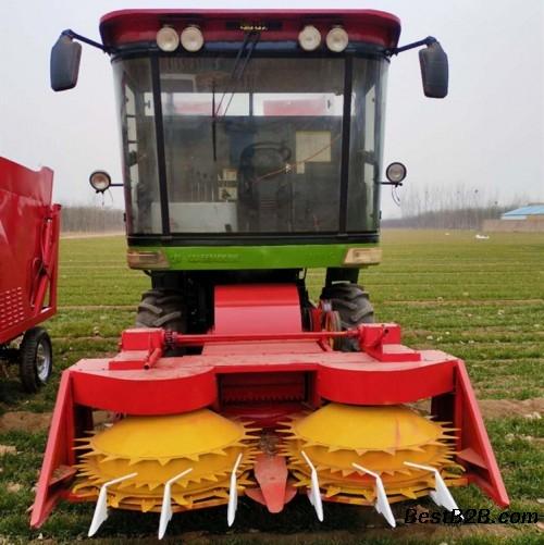 北海自走式大型秸稈粉碎回收機 自帶扒皮玉米收獲機