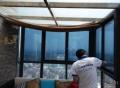 北京玻璃贴膜办公室写字楼阳台等磨砂膜隔热膜上门测量