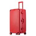 廠家批發大容量鋁框拉桿行李箱萬向輪密碼托運箱