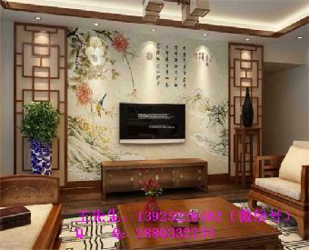 客厅电视背景墙彩绘机