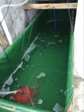 加厚耐磨水產養殖篷布魚池-帆布水池專業定做