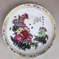 富貴開花陶瓷盤裝飾盤定制廠家青花掛盤擺件簡約現代家