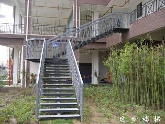 钢结构楼梯逸步楼梯双大梁钢结构楼梯直销店