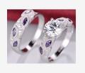 时尚热卖银饰钻戒欧美锆石指环现货新鲜出炉