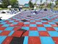 安全橡胶地垫 学校体育器械安全地垫 地垫施工