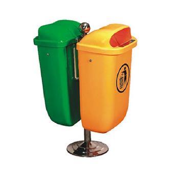 供应甘肃环卫局标准型分类垃圾桶麦穗塑料分类垃圾桶